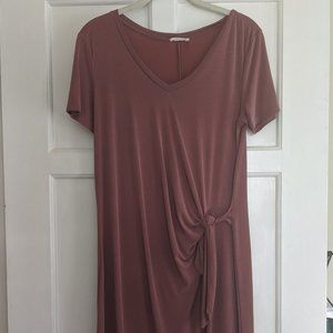 Jersey Midi Dress with Knot Detail